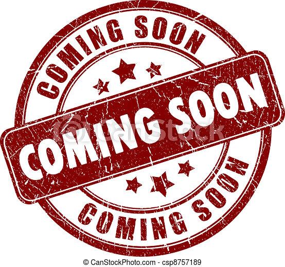 Vector coming soon stamp - csp8757189