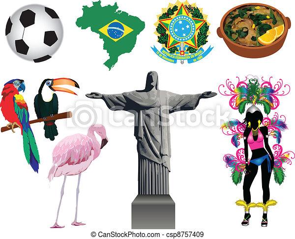 Brazil Icons - csp8757409