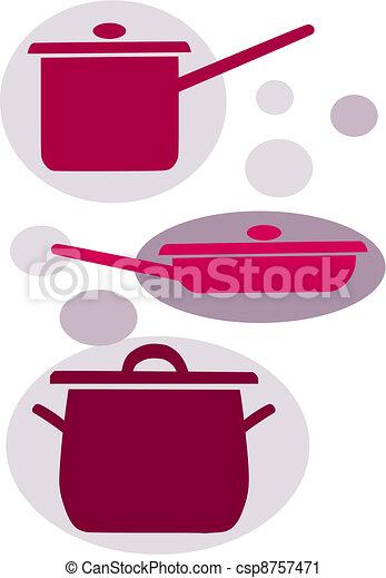 Simple Kitchen Equipment vector clip art of simple vector icons - kitchen equipment