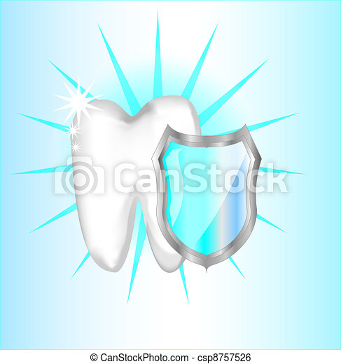 Teeth protection with shield - csp8757526