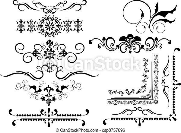 Decorative frame, border of ornamen - csp8757696