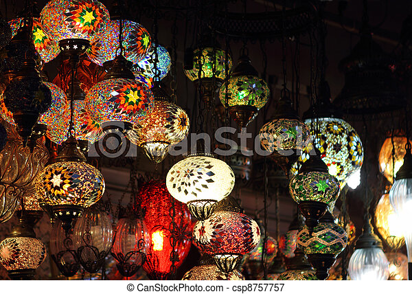 Traditional vintage Turkish lamps - csp8757757