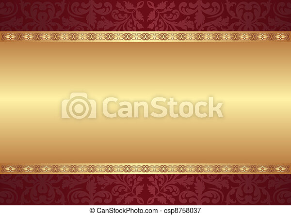 background with ornaments - csp8758037