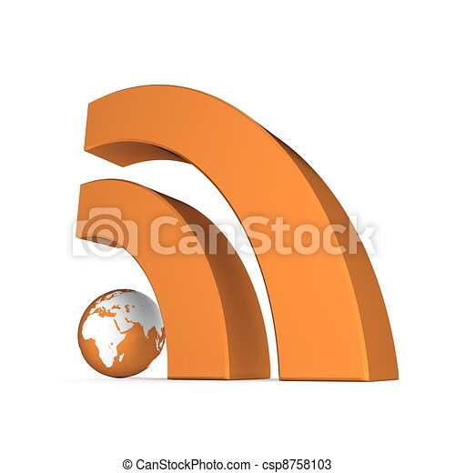 RSS Sign in Metallic Orange - csp8758103