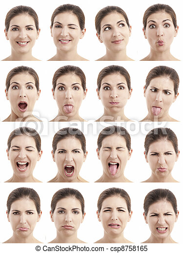 Multiple faces expressions - csp8758165