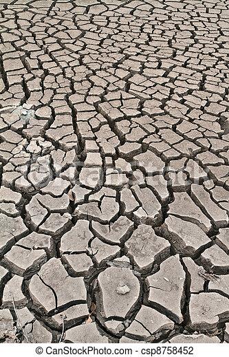 arid ground land - csp8758452