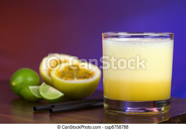 Maracuya Sour, a popular Peruvian cocktail - csp8758788