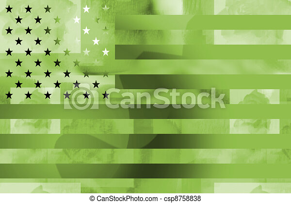 Military styled american flag - csp8758838