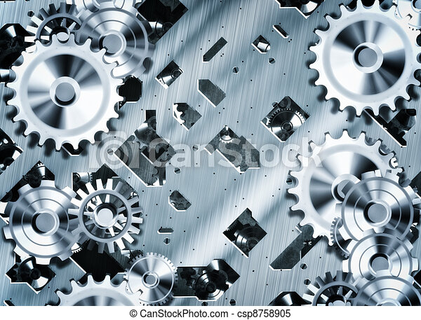 steampunk cogs and gears - csp8758905