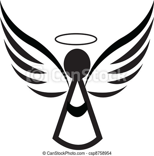Angel icon logo - csp8758954