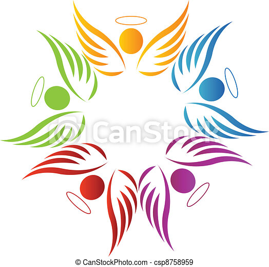 Teamwork angels logo - csp8758959