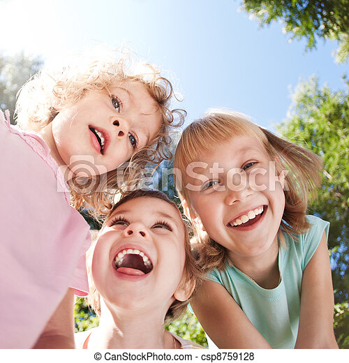 Happy children having fun - csp8759128
