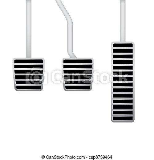 illustration of car pedals - csp8759464