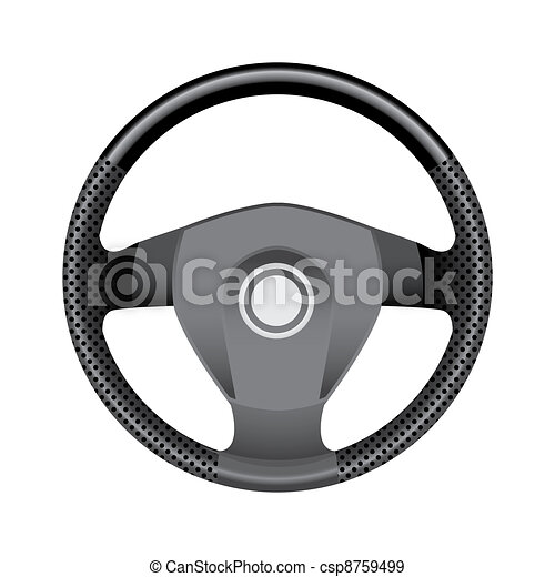 Steering wheel - realistic illustration - csp8759499