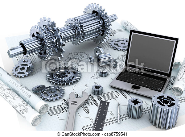 Clipart Of Technical Engineering Concept Conceptual