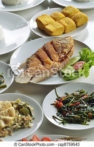 Indonesian fried fish  - csp8759543