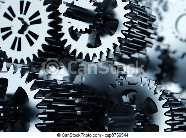 Mechanical Gear Cooperation - csp8759544