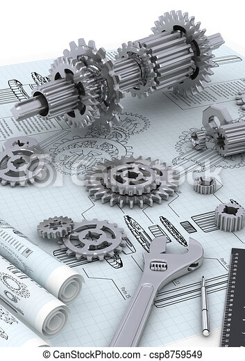 Mechanical Engineering Concept - csp8759549