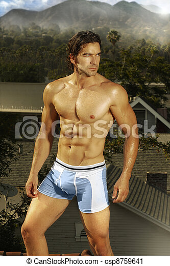Male model of muscle - csp8759641