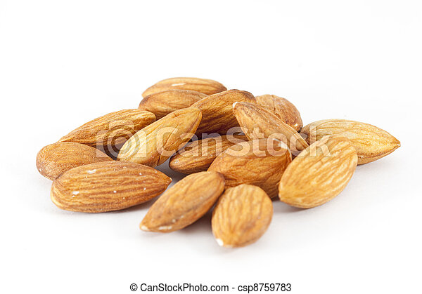 Pile of almonds - csp8759783