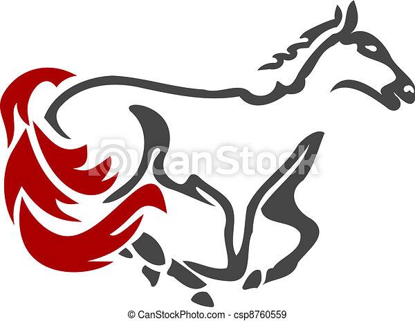 Racing Horse Icon 2 - csp8760559
