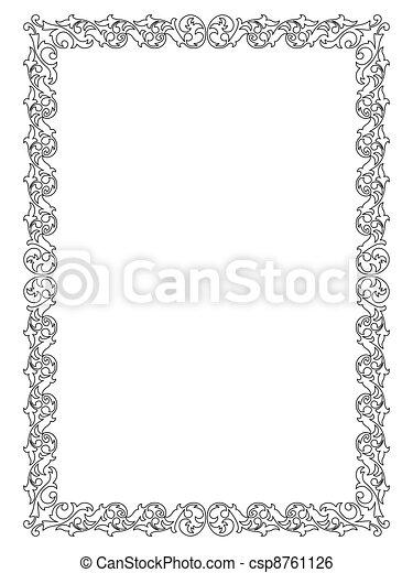 simple ornamental decorative frame - csp8761126