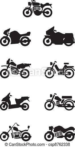 Siluetas, motos,  /, motocicleta - csp8762338