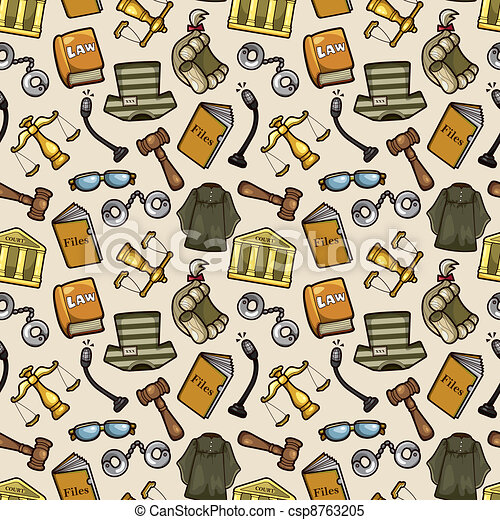 law seamless pattern - csp8763205