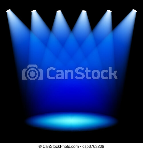 Stage spotlights - csp8763209
