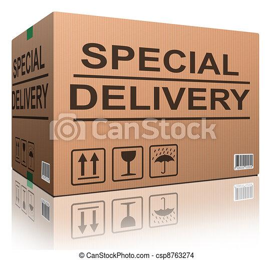 special delivery cardboard box - csp8763274