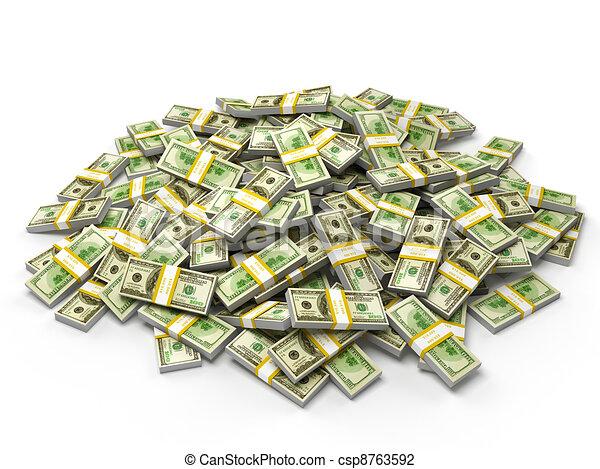Clip Art Of Pile Of Dollar Bundles Pile Of Money Dollars