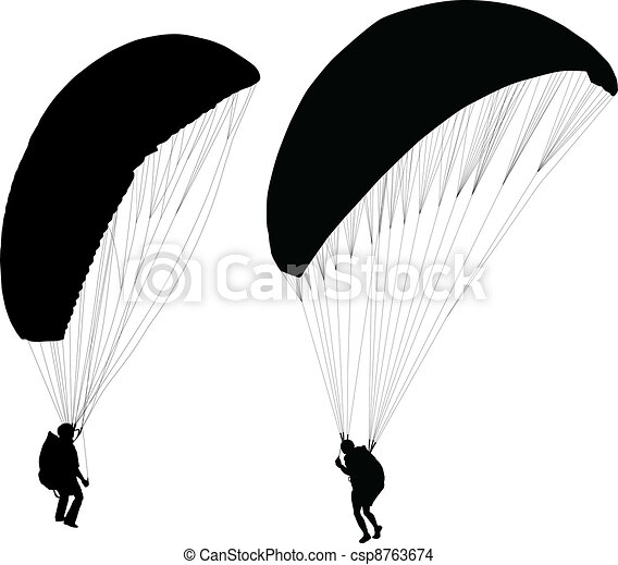 Paraglider before taking off - csp8763674