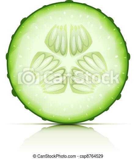 ripe cucumber cut segment - csp8764529