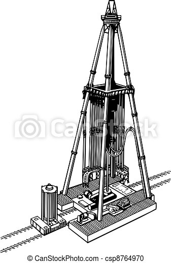 Oil drilling rig - csp8764970