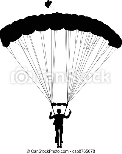Skydiving   - csp8765078