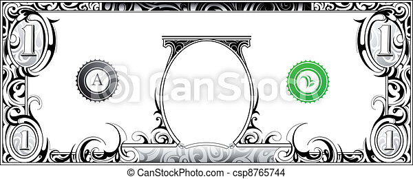 Dollar bill - csp8765744