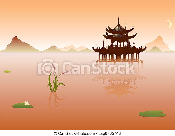 Orient temple - csp8765748