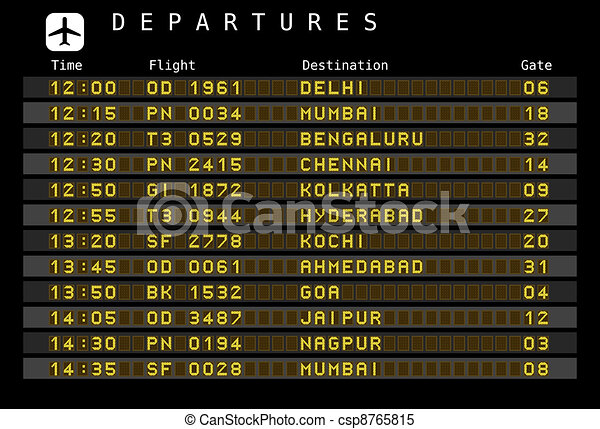 Airport departures - India - csp8765815