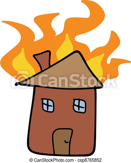 Home fire - csp8765852