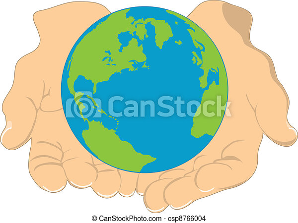 Earth and Hands - csp8766004