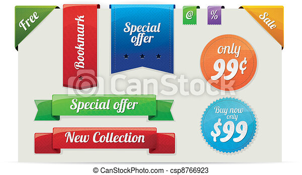 Sale stickers and labels - csp8766923