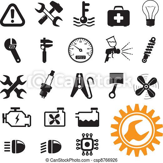 Green energy icons - csp8766926