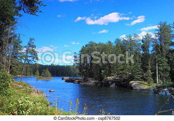 Serene lake - csp8767502