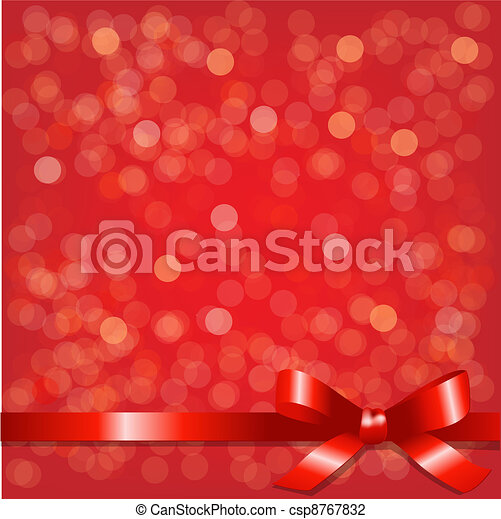 Red Backgrounds With Red Ribbon - csp8767832