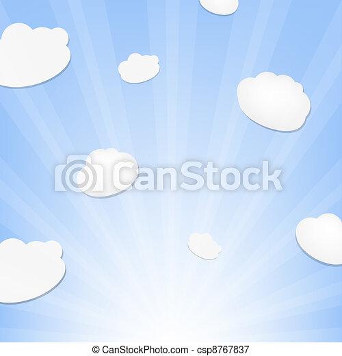 Cloud And Sunburst - csp8767837