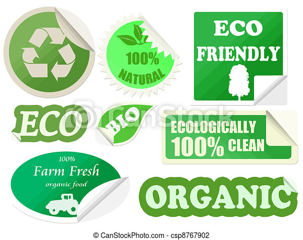 Set of organic stickers - csp8767902