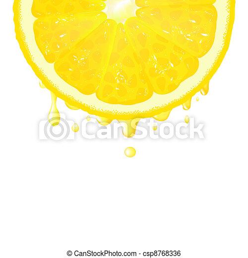 Lemon Segment With Juice - csp8768336