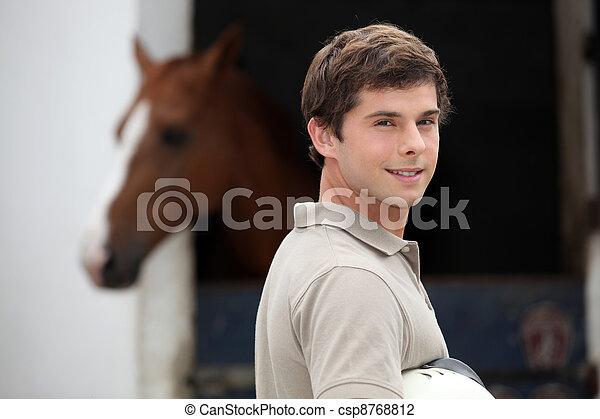 Adolescent equestrian center - csp8768812