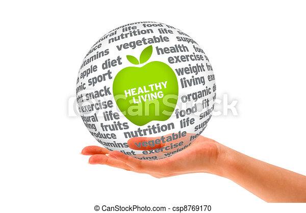 Healthy Lifestyle Sphere - csp8769170
