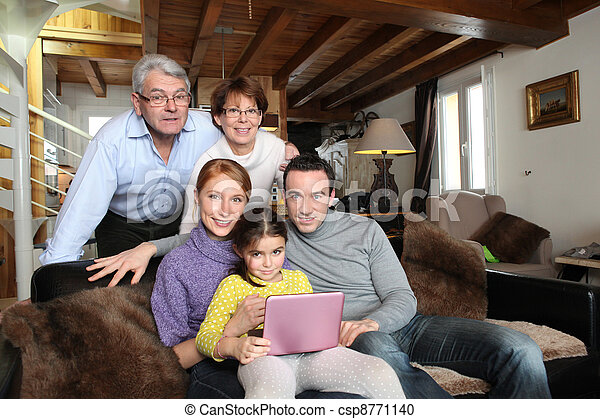 A cozy family portrait - csp8771140